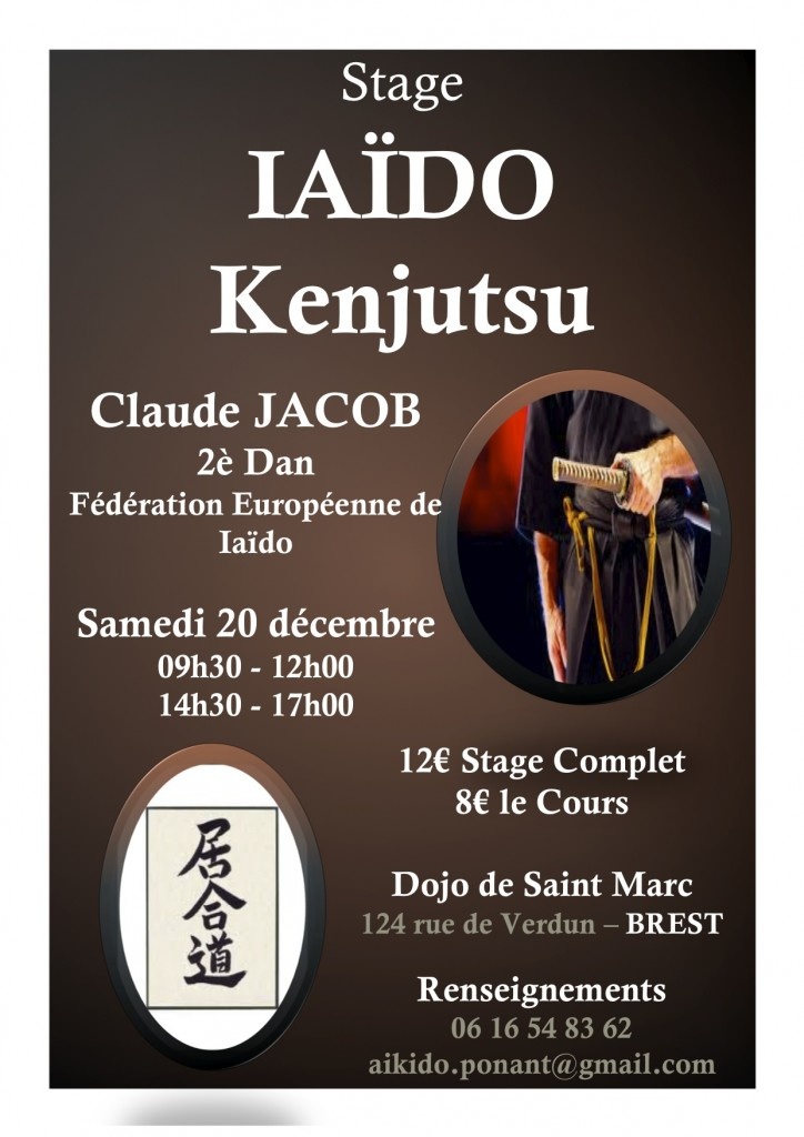 Affiche Stage Iaïdo